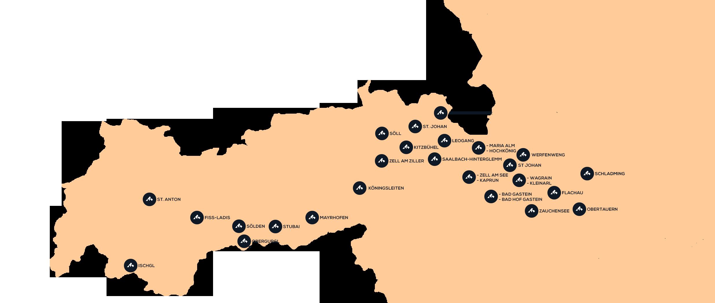 Destinationer i Østrig