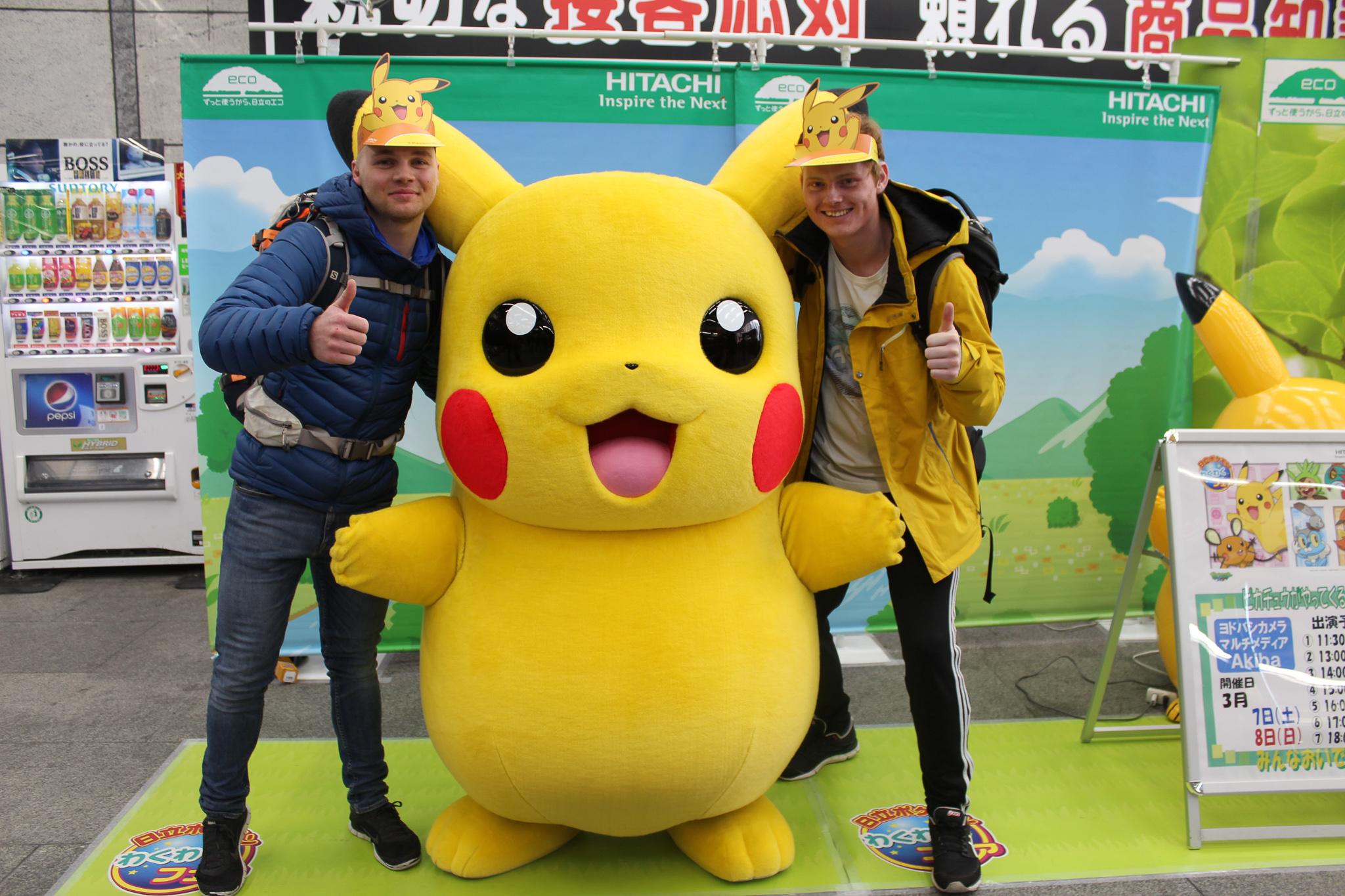 Besøg hos Pikachu under Snowminds kursus